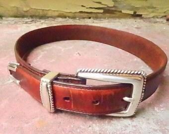 Vintage brighton belt leather belt