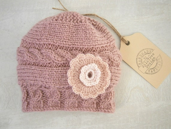 Baby Girl Hat Baby Girl Knit Hat Knit Newborn by PrettyBagsByMia 3abb68769bcc