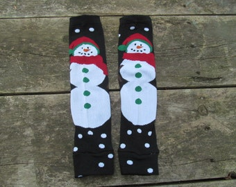 Snowman Leg/Arm Warmers