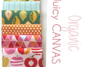 Organic Juicy CANVAS One YARD Bundle -  Fabric by Monaluna from the Juicy Collection- 6 Yards Total