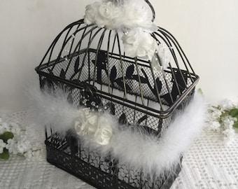 Wedding Card Holder, Bird Cage Wedding Decor, Baptism card holder, fisrt communion Card holder. Bird Cage Decor