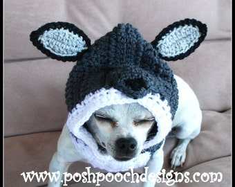 Wolf Dog Snood Instant Download Crochet Pattern 3 sizes