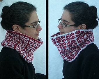 "Reversible adult cowl (""Jianzhi"") knitting pattern (PDF)"