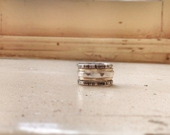 Stacking Rings - 9 ct Gold and Silver Ring