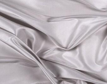 "54"" Wide 100% Silk Taffeta Light Silver by the yard"
