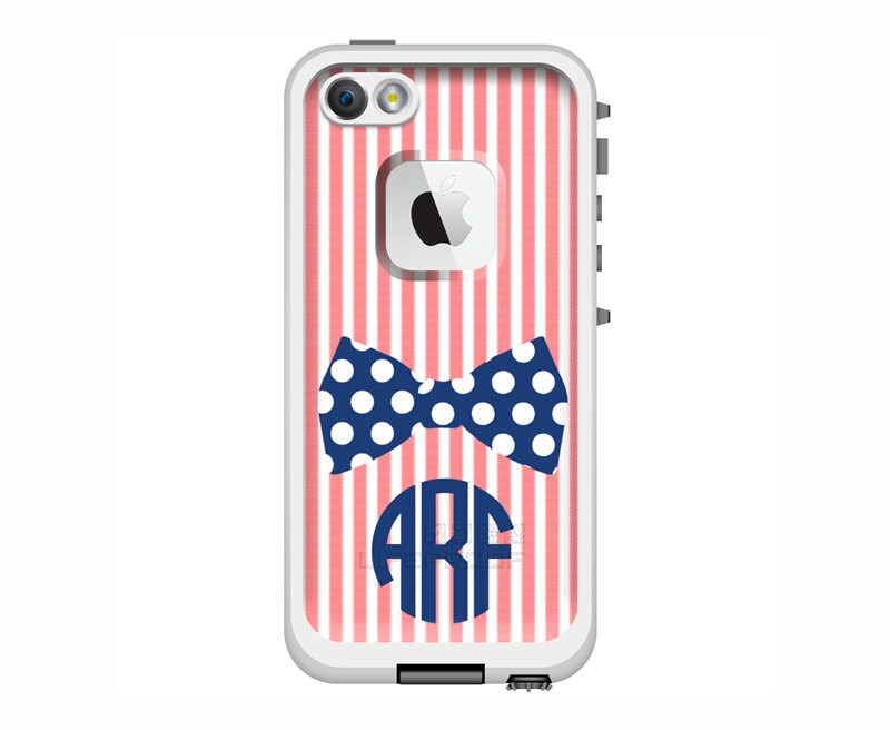seersucker  u0026 bow tie monogrammed lifeproof fre or nuud iphone