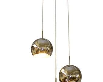Mid Century Modern vintage, Chrome balls chandelier