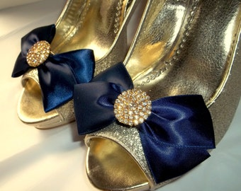 Wedding Shoe Clips,MANY COLORS AVAILABLE,womens shoe clips,Bridal Shoe Clips,Gold Jewels,Bow Shoe Clips,Clips for Bridal Shoes Wedding Shoes