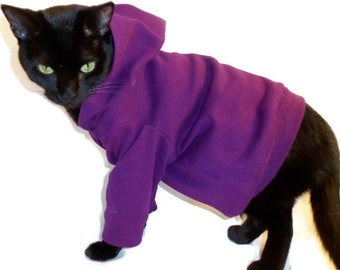 Cat Hoodie-Cat Hoodies-Hoodies for Cats-Cat Clothes-Cat Clothing-Cat Sweater-Clothes for Cats Shirt-Cat Shirts-Shirts for Cats