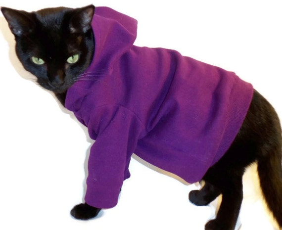 Cat Hoodie - Cat Clothes - Many Colors to Choose From! Cat Clothing - Cat Sweater - Clothes for Cats - Cat Hoodies - Cat Shirt