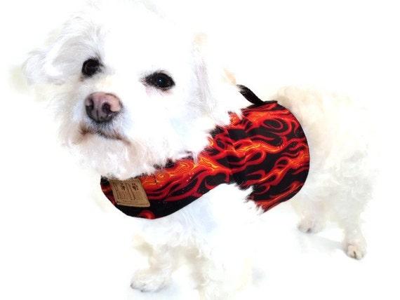 Flames Dog Harness - Dog Clothes - Custom Dog Harnesses - Dog Clothing - Clothes for Dogs - Harnesses for Dogs - Dog Coat - Dog Jacket