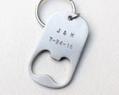 Wedding Favor Bottle Opener Key Chains