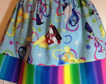 Inside Out Birthday skirt / Disney Inside Out skirt / Inside Out Birthday / Disney Birthday skirt / Inside Out Clothing / You Choose Colors