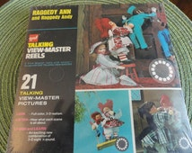 A882)  Vintage Raggedy Ann and Raggedy Andy Talking View Master Reels new in sealed box