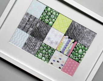 Princess and The Pea Patchwork print - Nursery decor