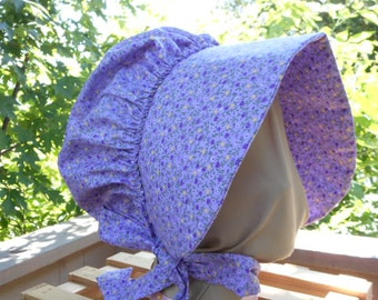 Bonnet Lavender and Yellow Calico