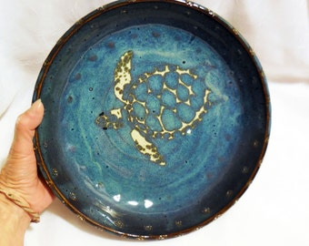 Sea Turtle Pottery Pie Plate