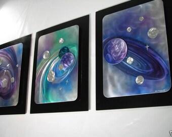 Alex Kovacs - Contemporary Metal Wall Decor, Planets, Metal Modern Wall Art, Metal Wall Sculpture, Original Art - AK61