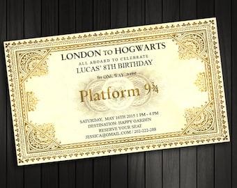 Harry Potter Birthday Invitation, Train Ticket Invitation , Harry Potter Hogwarts Express Ticket / Baby Shower / Bridal Shower / Printable
