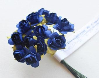 3 flowers Branchs 36 Flowers colors Navy Blue Flowers