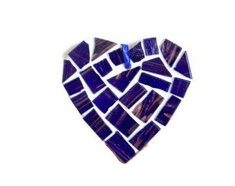 Blue Mosaic Heart - Small Mosaic Heart