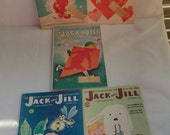 Lot of 5 Jack and Jill 1959 children's magazines