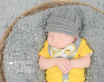 baby boy hat, newborn hat, newborn baby hat, newborn boy hat, newsboy hat, baby hat, button hat