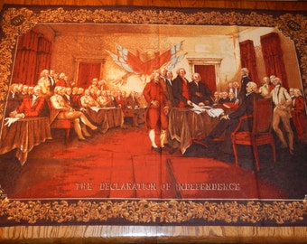 Signing of The Declaration of Independence Wall Hanging Tapestry