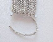 1.1 yards off white, 5 mm twist cord, twisted , Wrapped Thread Cord, Satin Twisted cord , Decoration,Fabric Rope Trim Accent for Crafting