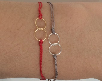 Silk Thread Eternity Link Gold Fill Bracelet also available in Silver