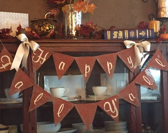 HAPPY FALL YALL, Happy Fall Y'all, Happy Fall Yall Sign, Happy Fall, Fall Banner, Fall Bunting, Fall Decor, Fall Decorations, Fall Signs
