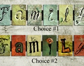 Family Wall Art - gift, letter, wedding, birthday, for him, for her, baby, anniversary, home decor, alphabet, sign, under 35