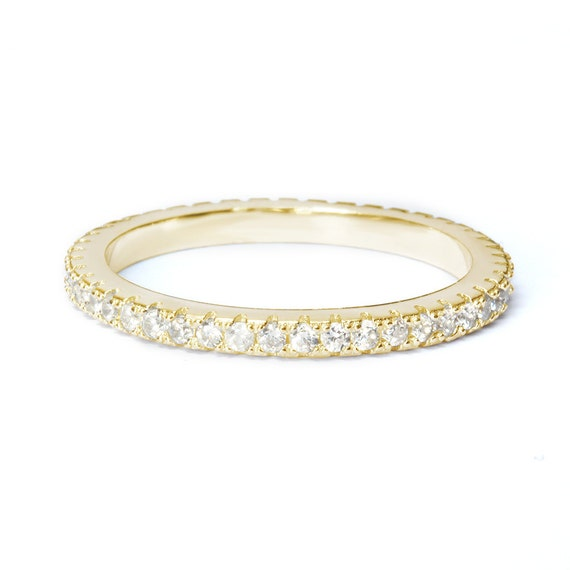eternity wedding band 2mm by sillyshinydiamonds