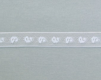 Antique light weight insertion lace, c.1900 off white insertion lace, 9+ yards with more available
