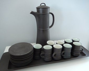 Vintage Dansk Flameware - Dansk Coffee Set - Jens Quistgaard Design - 23 Piece Vintage Dansk - Dansk IHQ Coffee Set