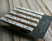 Gray Damask Clothespin Magnets - Gray Magnet Set - Fridge Magnets - Set of 5