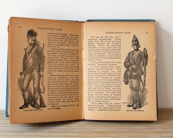 Vintage antique childrens book / Nathaniel Hawthorne / Americana / New England / American history / American literature / illustrated book