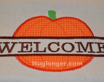 Applique Split Pumpkin embroidery file
