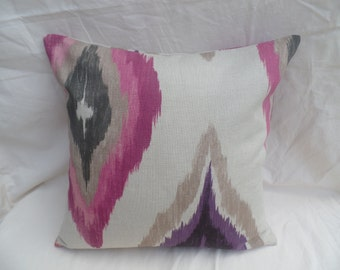 """Clearance 16"""" Handmade contemporary modern retro pink, black, beige aztec cushion cover, pillow, pillow case, scatter cushion."""