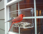 "Window Bird Feeder by JCs Wildlife Classic 8"" Acrylic 2 cups Free Shipping"
