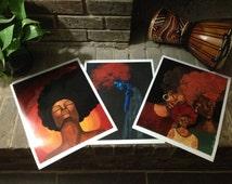 Autographed Art Prints( Free, A Blue Mood, Company of Women)