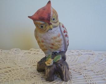 Vintage Ceramic Owl Figurine, Home Decor, Circa: 1970's, Collectable Figurine, Gift Item