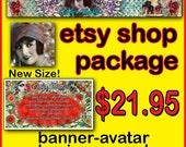 ETSY CUSTOM SHOP Package, Etsy Custom Banner, Custom Banner, Etsy Banner, Business Card, Custom Etsy Shop Package