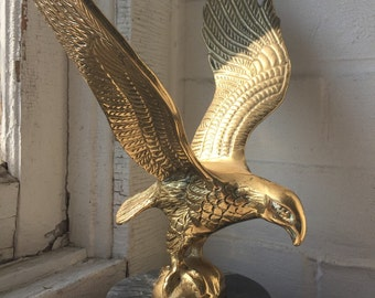 Vintage American Eagle Large Brass Eagle  United States of America Proud Eagle