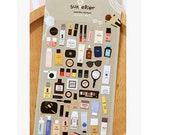 DIY Scrapbook Diary Deco Kawaii Suatelier Label Sticker Beauty Perfume Cosmetic
