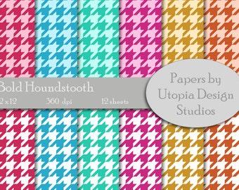 Digital Paper Pack - Bold Houndstooth