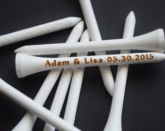 20 Personalized White Golf Tees, 2 3/4'' Golf Tees, Golf Gifts For Men, Groomsmen Golf Gift, Golf Tees, Golf Tee, Golf Tees Groomsman, Golf