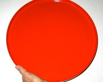 Vintage Heller plastic tray platter orange large size
