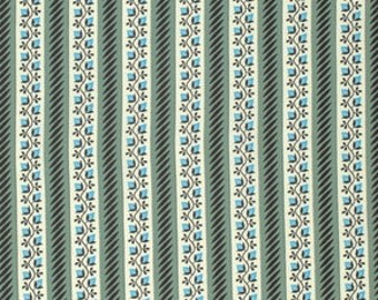 New Bedford by Denyse Schmidt for Free Spirit - Floral Stripe - PWDS092-SEAXX - 1/2 Yard Cotton Quilt Fabric 516
