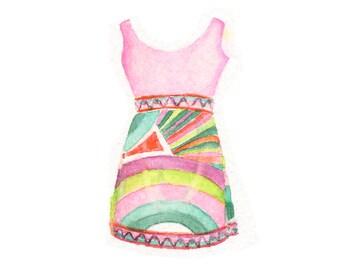 Watercolor Pucci Dress, Pucci Dress Print, Pucci Print